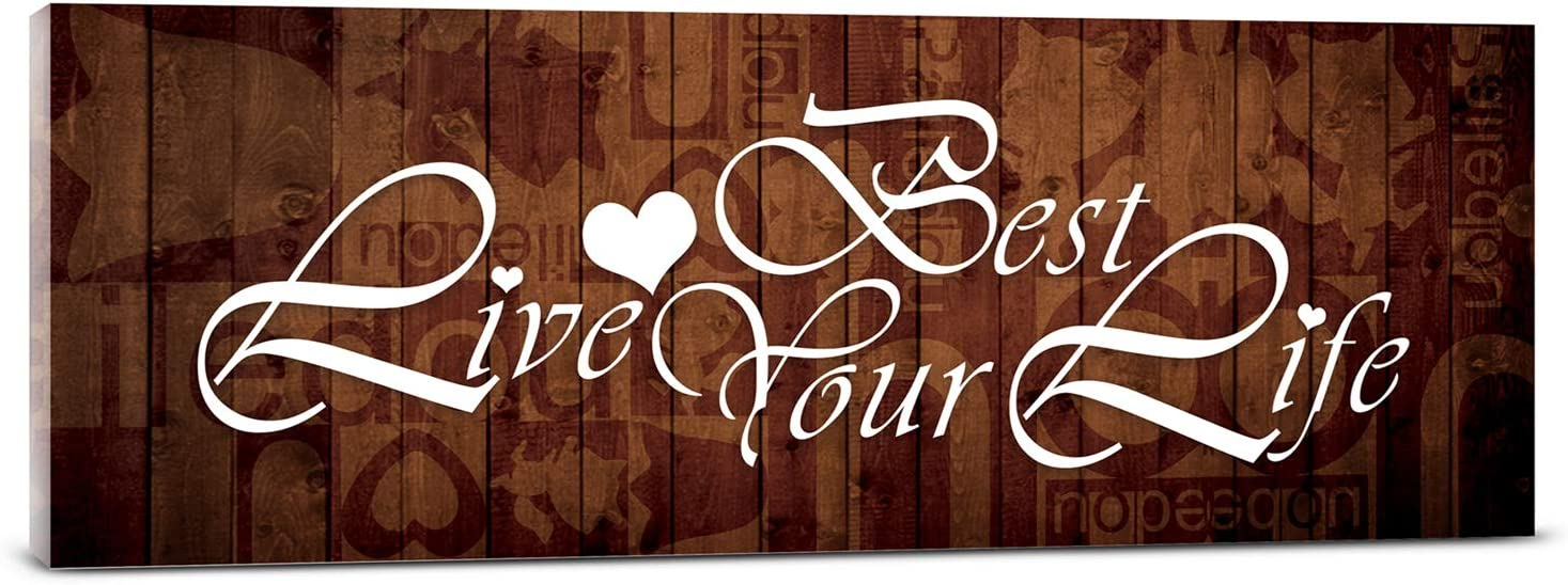 Canvas wall Art for Office wall Art Bathroom Decor painting love the best life home Decor artwork 6x17inch