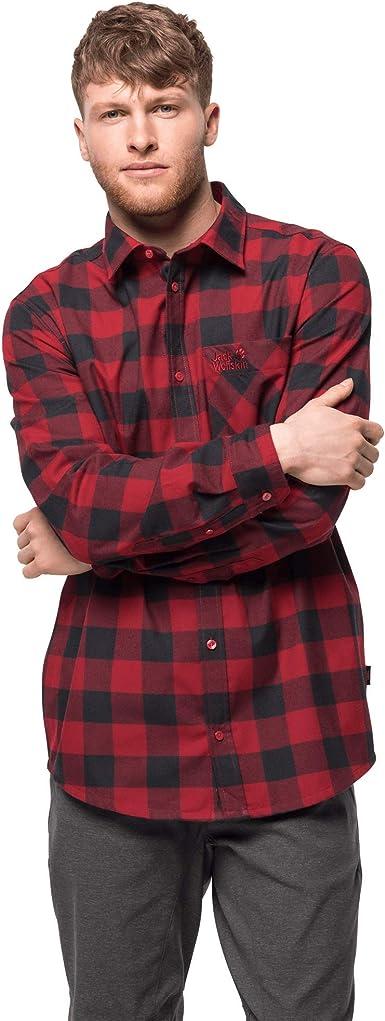Jack Wolfskin Red River Shirt Camisa para Hombre. Hombre