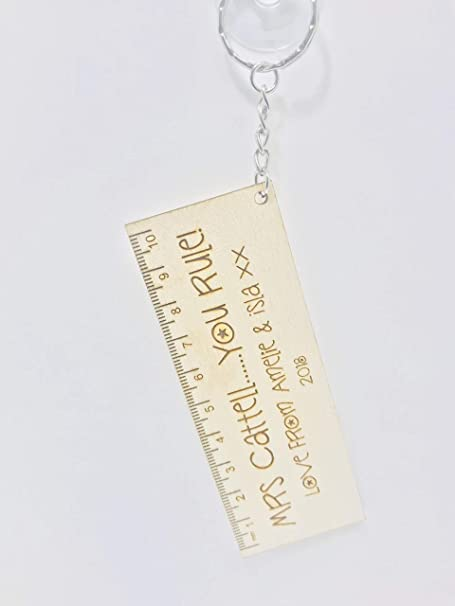 Personalised Teacher Key ring Engraved Gift Thank You School End Of Term