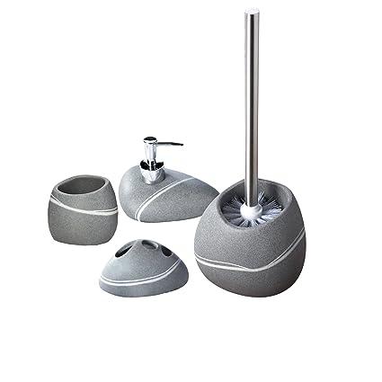Ridder 229902070-350 - Juego de accesorios para baño, escobilla, dispensador de jabón