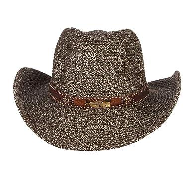 B Baosity Erwachsene Kind Cowboyhut Westernhut Strohhut Gro/ße Krempe Stroh Sonnenhut f/ür Strand Reise Party Urlaub