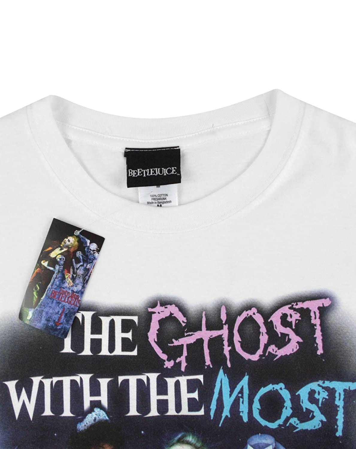 Amazon.com: Official Beetlejuice Ghost With The Most Mens T-Shirt (XXL): Clothing