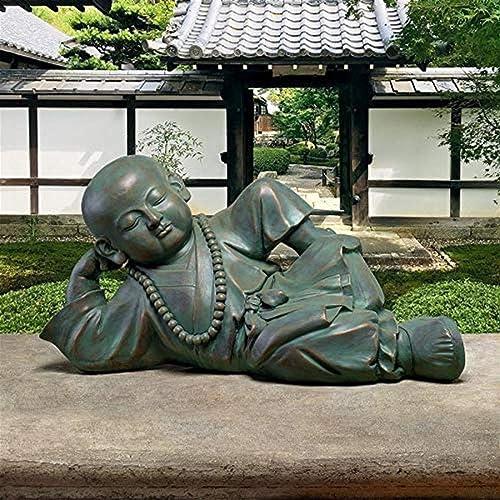 Design Toscano EU22736 Resting Serene Baby Buddha Garden Statue