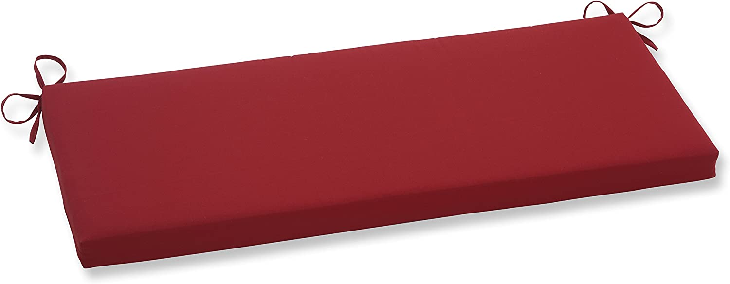 Pillow Perfect Pompeii Bench Cushion, Red
