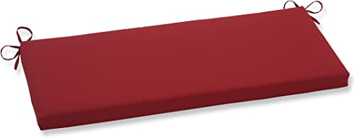 Pillow Perfect Outdoor Indoor Pompeii Bench Swing Cushion, 45 x 18 , Red