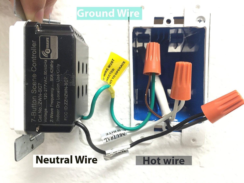 Enerwave Zwn Sc7 Z Wave Scene Controller 7 Button Switch 2 Free 277 Volt Wiring Neutral Wall Plates Required Black Amazoncom
