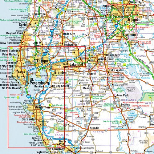 Florida State Wall Map - 22 x 30 inches - Paper - Flat Tubed by Globe Turner (Image #1)