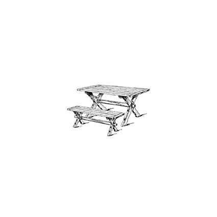 Image Unavailable Not Available For Color Sawbuck Bench And Table Woodworking Plan