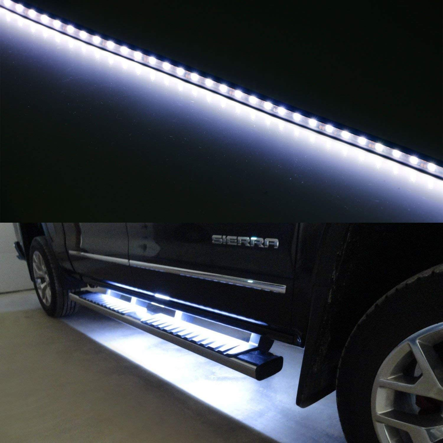 40 63-SMD Flexible LED Running Board//Side Step Lighting Kit For Ford GMC Chevy Dodge Toyota Nissan Honda Truck SUV iJDMTOY Ultra Blue 2