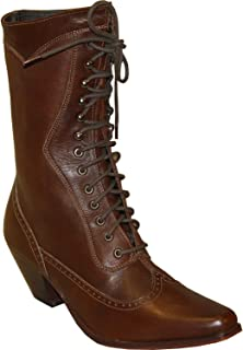 """product image for Abilene Women's Rawhide by 8"""" Victorian Lace Up Boot Snip Toe"""