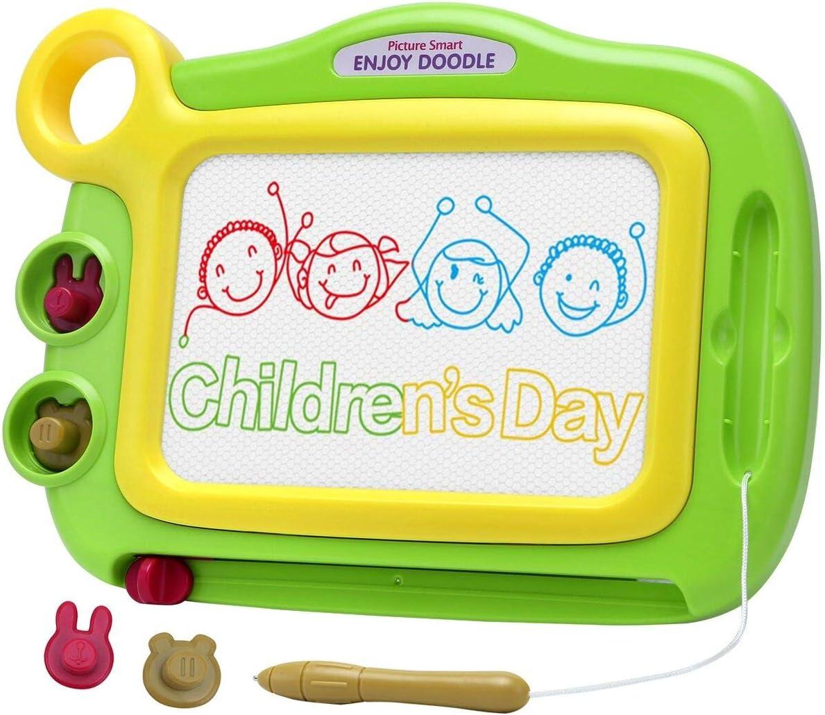 GSAGJyec Childrens Drawing Writing Board Color : Orange Electronic LCD Writing Tablet Erasable Handwriting Magnetic Pen Kindergarten Toy Drawing Board