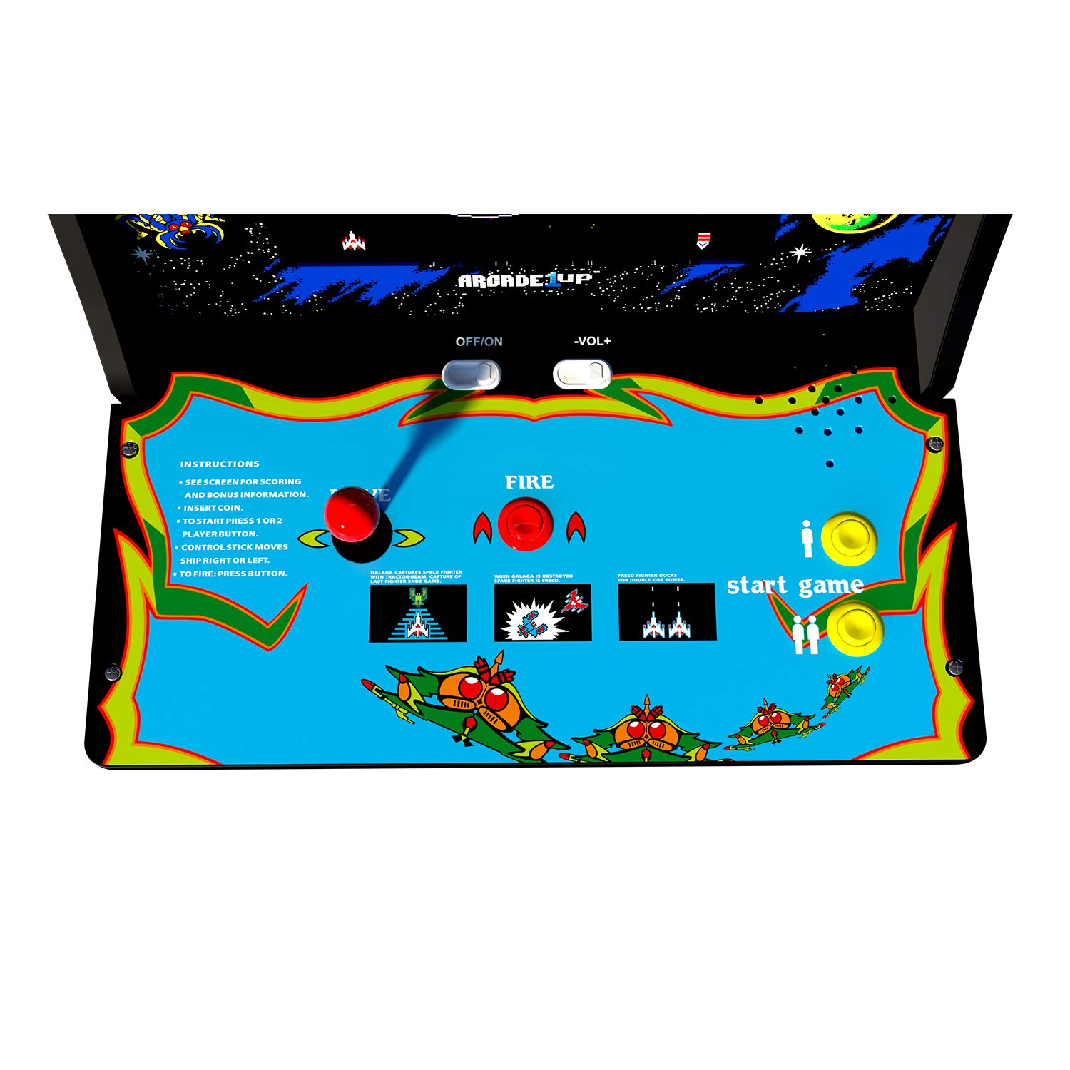 Arcade 1Up Galaga Deluxe Arcade System with Riser, 5 feet by Arcade1Up (Image #2)