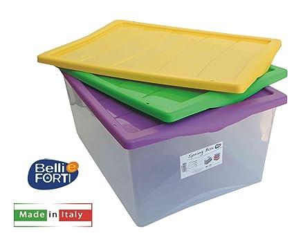 Oggetti In Plastica Per La Casa.Belli E Forti Scatola In Plastica Porta Oggetti Spring Box 55 X 39 X