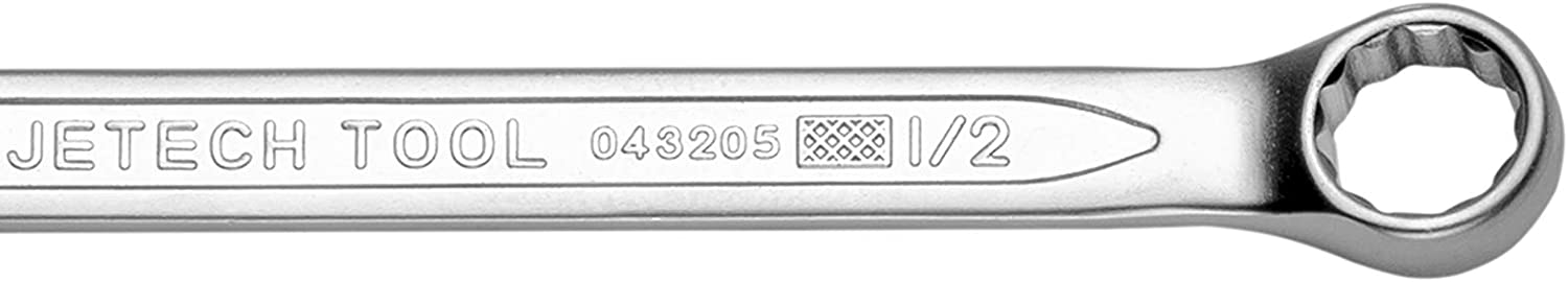 Jetech 1//2 Combination Wrench Durable SAE Inch Cr-V Steel High Strength Spanner in Sand Blasted Finish