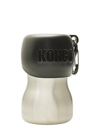 Amazon.com: Kong H2O – Botella de agua para perro de acero ...