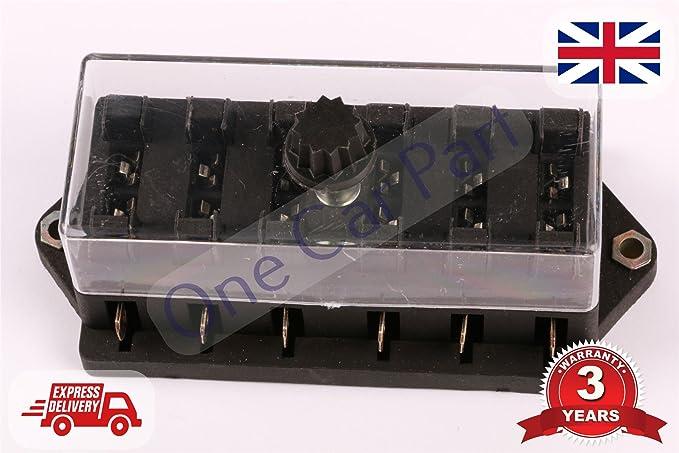 12 V caja de fusibles soporte coche para moto coches 6 way ...