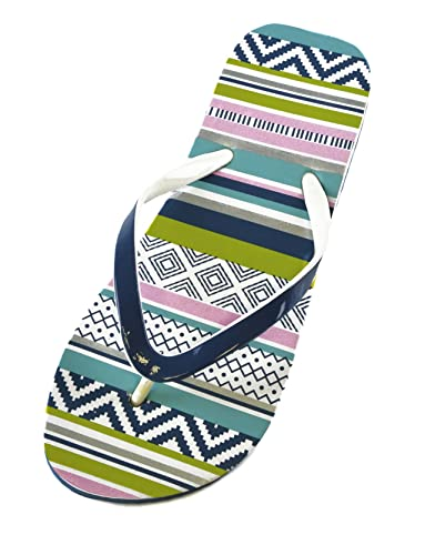 86700b19a8e49 Ladies Girls FLIP Flops Sandals Aztec Zig ZAG Design RED Black Green Blue  Size UK 3 4 5 6 7 8  Amazon.co.uk  Shoes   Bags