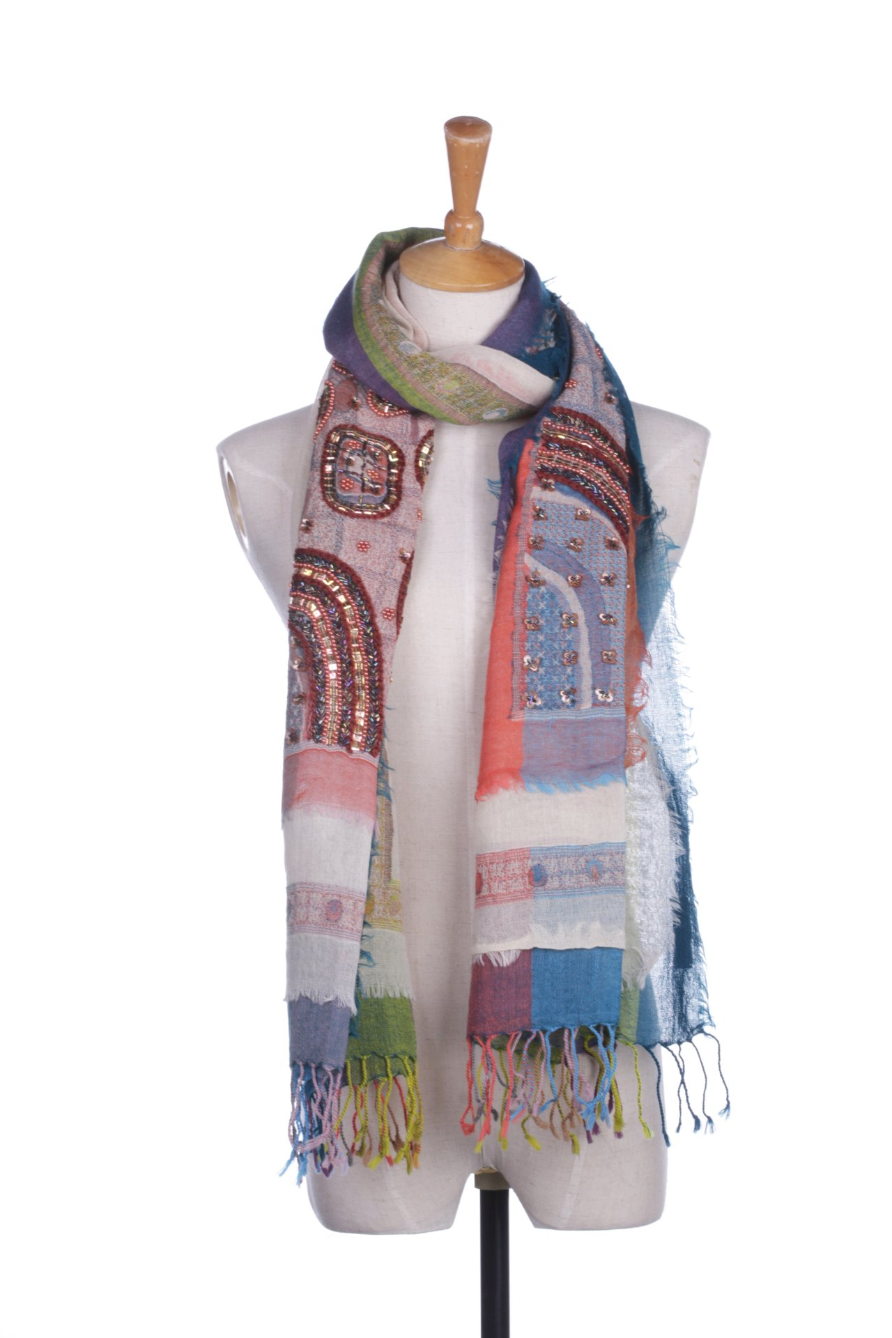 Hansile Fashion Autumn Winter Indian Style 100% Wool Warm Embroidery Scarf by hansile