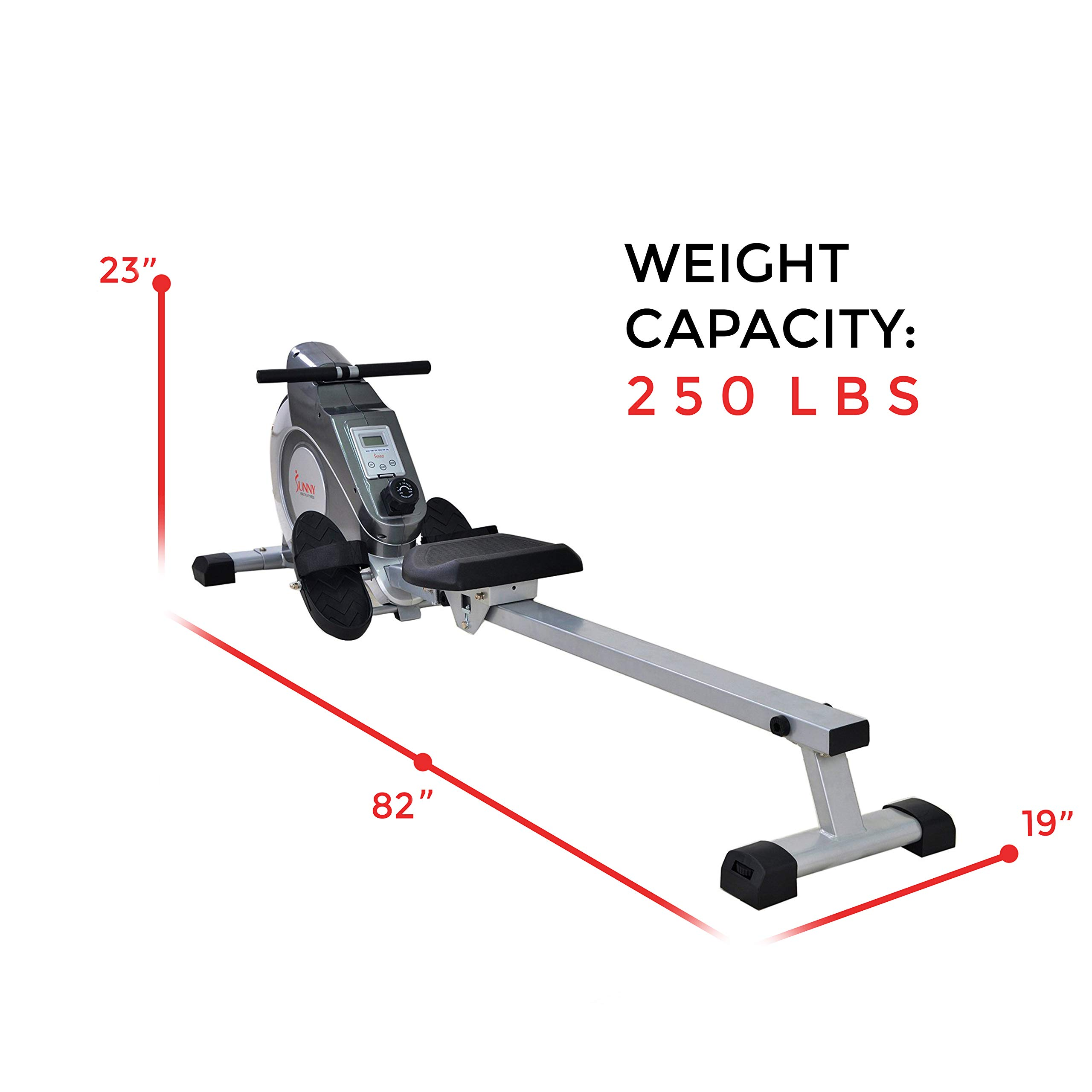 Sunny Health & Fitness Magnetic Rowing Machine with LCD Monitor by SF-RW5515 by Sunny Health & Fitness (Image #15)