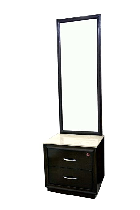 the best attitude 64dc8 26701 Adlakha Furniture Espresso Dressing Table With Marble Shelf ...