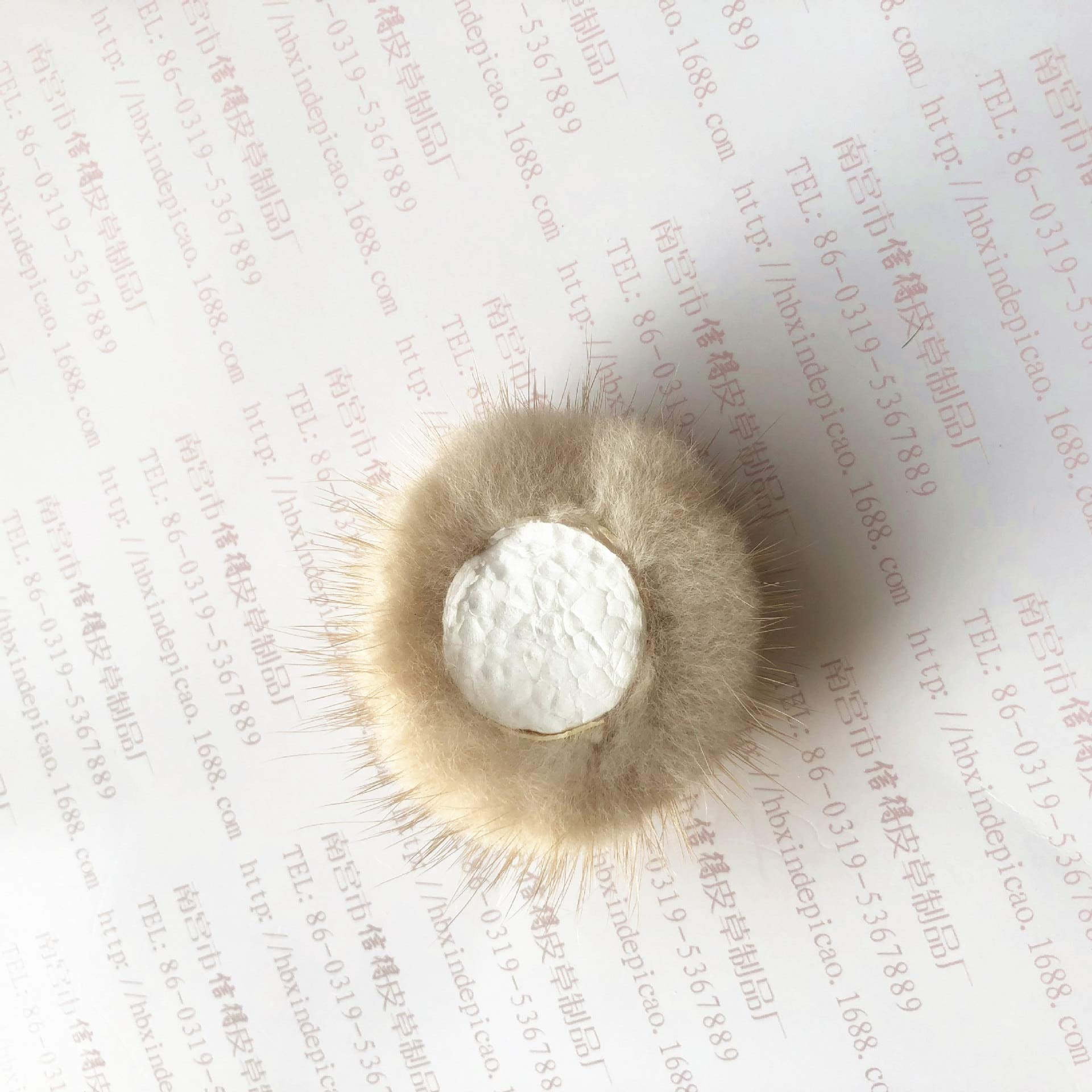 Dalab 10pcs DIY 5.5 6.5cm Mink Pompoms Fur Balls for Sewing On Knitted Beanies Keychain Scarves Shoes Hats Fur Pom Pom DIY Accessories - (Color: Amy Green, Size: 5.5cm)