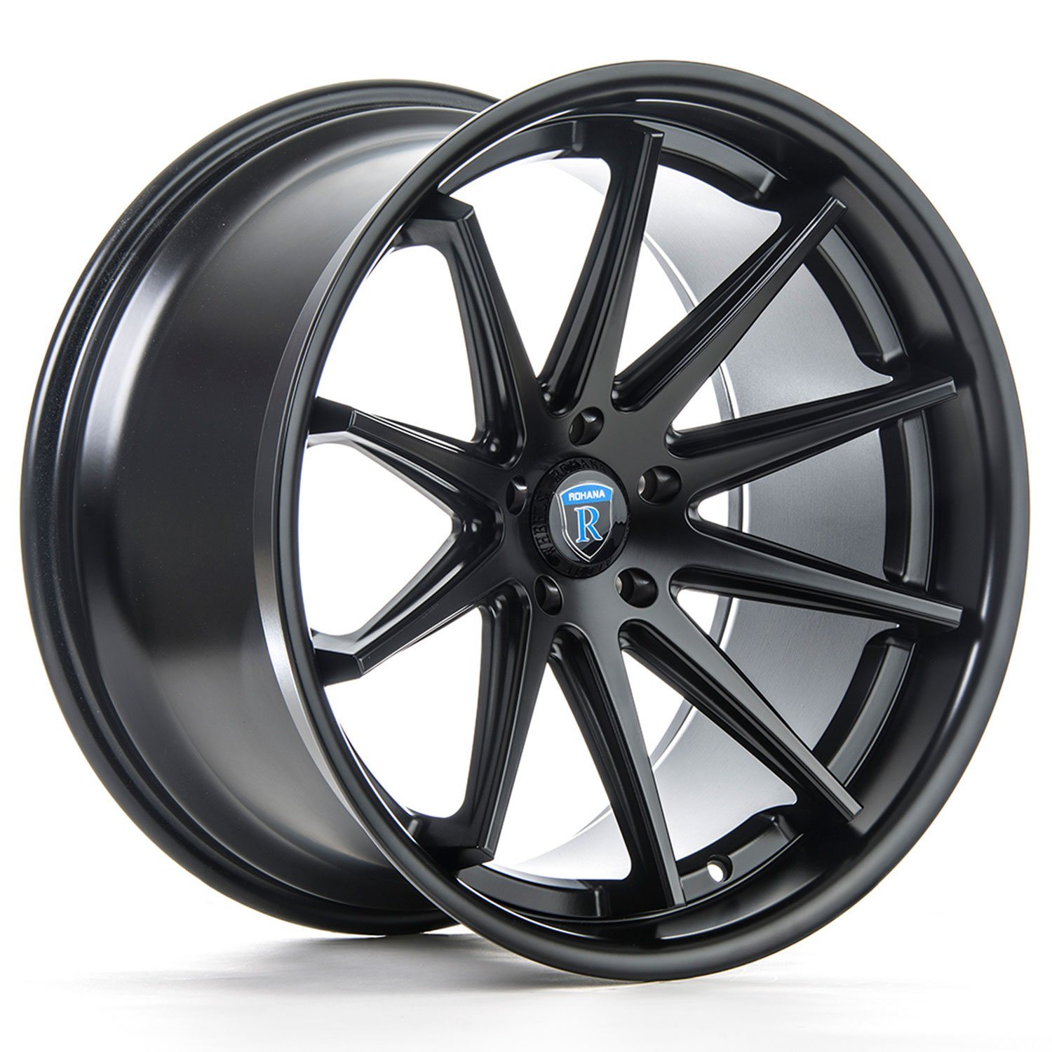 Rohana RC10 19 Matte Black Wheel / Rim 5x120 with a 33mm Offset and a 72.56 Hub Bore. Partnumber RC1019855120MB33