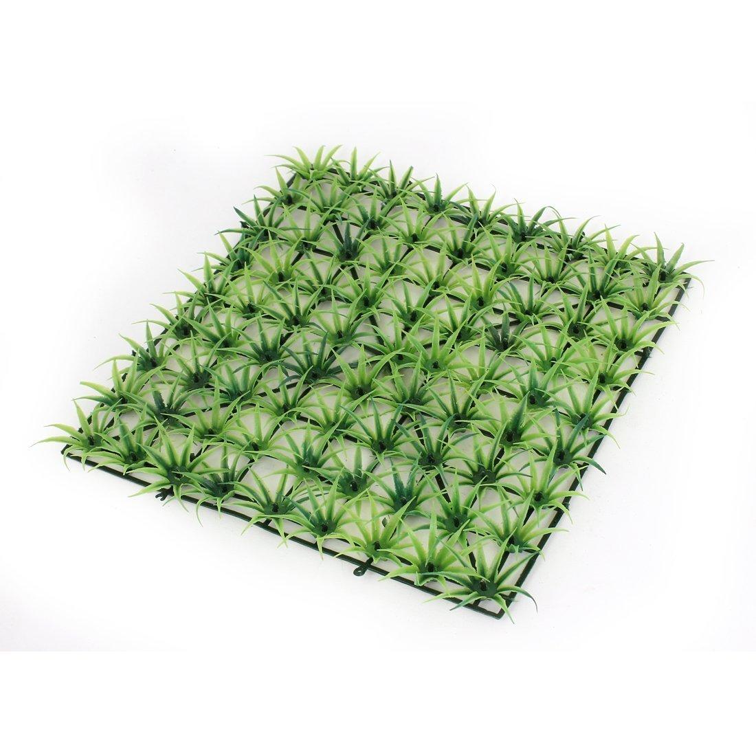 1Pc Plastic Manmade Grass Aquarium Fish Tank Lawn Plant Ornament Green