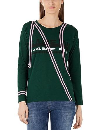 Marc Manches Shirt SportsT Cain Femme Longues IgymfYb76v