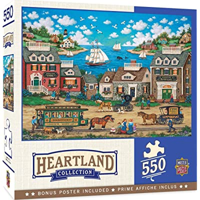 MasterPieces Heartland - Oceanside Trolley 550-Piece Jigsaw Puzzle: Toys & Games