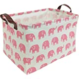 HIYAGON Rectangular Storage Box Basket for Baby, Kids or Pets - Fabric Collapsible Storage Bin for Organizing Toys,Nursery Ba