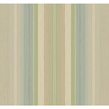 York Wallcoverings YW1483 Stockbridge Square Ombre Stripe Wallpaper Pastel Pink Pale Blue Light