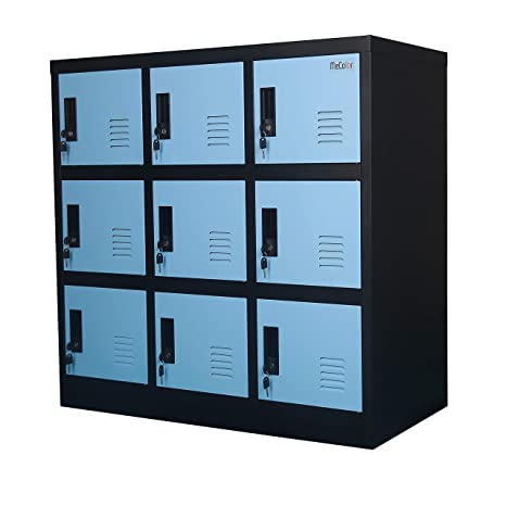 . MECOLOR Metal Kids Locker for Girls Bedroom and Playroom Storage for  Clothes Bags Toys and Book  Blue  9D
