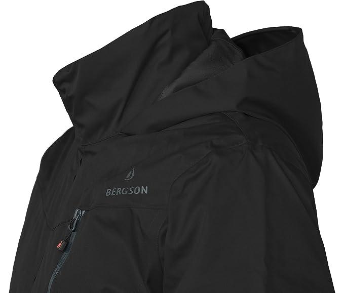 Packaway-Jacke Wassers/äule: 12000 mm gef/üttert atmungsaktiv Bergson Damen Funktionsjacke ROCKRIDER Thermo Atmungsaktivit/ät: 12000 g//qm//24Std leicht wattiert,wasserdicht Winddicht
