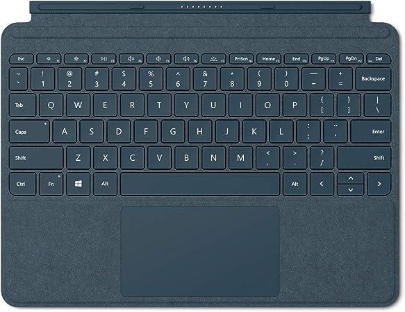 Microsoft Signature Type Cover - Funda con teclado para Surface Go, Azul - Teclado QWERTY Español