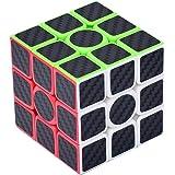 3x3x3 Speed Carbon Black Cube Adhésif fibre lisse Cube magique Précisément Puzzles