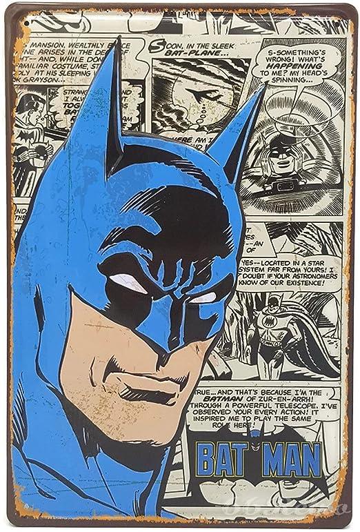 66Retro Placa decorativa de pared, diseño de Batman The Comic ...