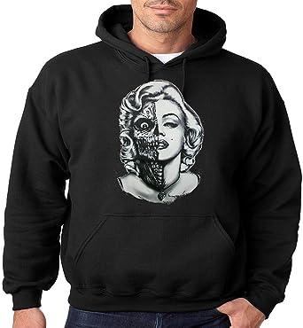 Marilyn Monroe Sudadera con Capucha Half Zombie Face Sudadera con ...