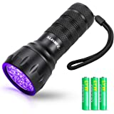 Waklyte Black Light, Mini UV Flashlight, 21 LED 395 nm Ultraviolet Blacklight Detector for Dog Urine, Pet Stains and Bed…