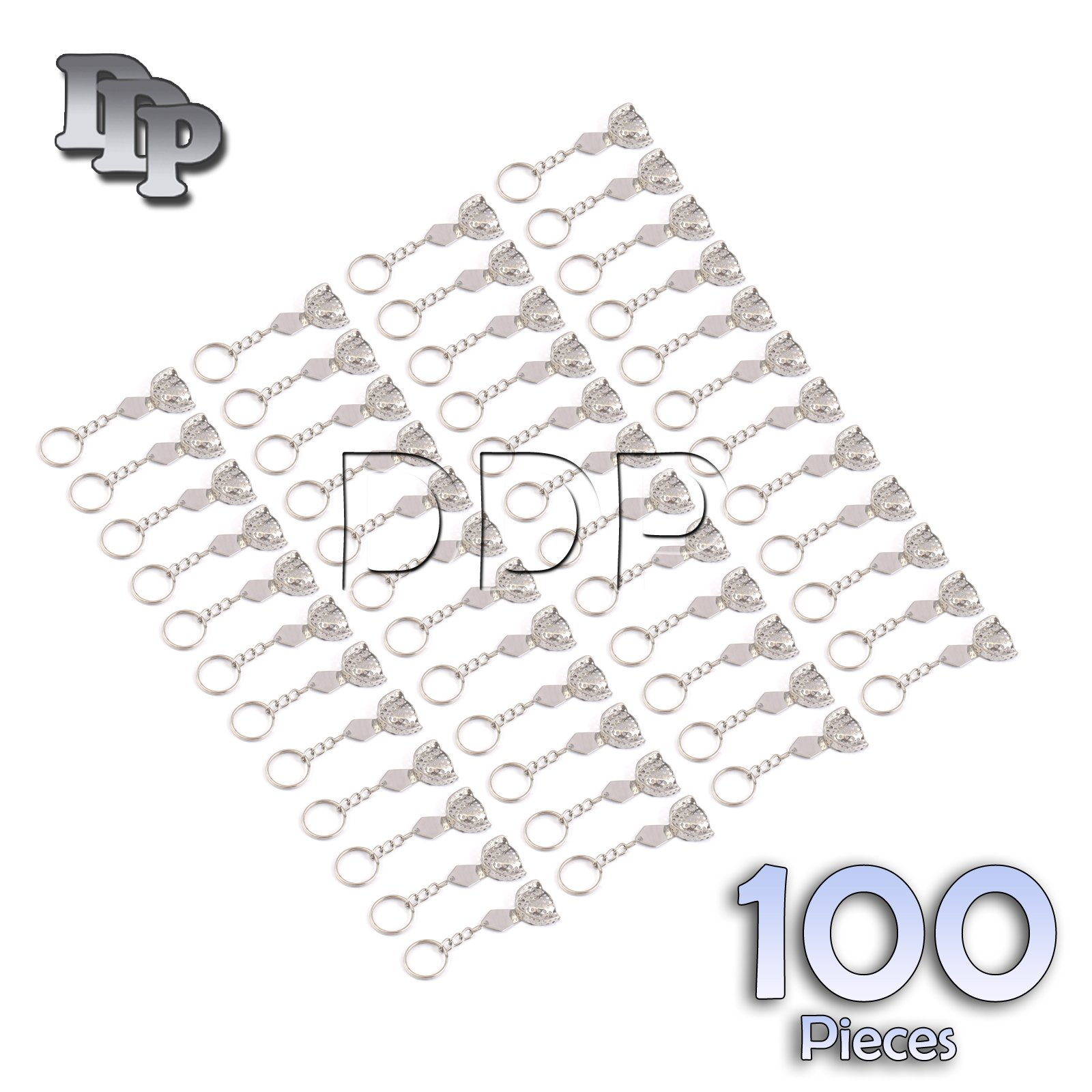 DDP SET OF 100 DENTAL IMPRESSION TRAY PERFORATED KEY CHAIN