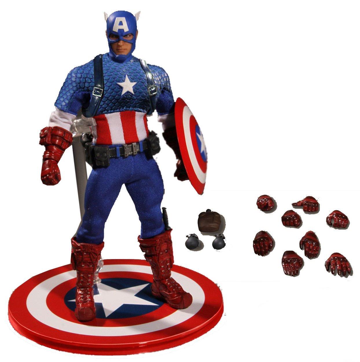 Mezco Toyz ONE:12 COLLECTIVE Marvel Comics Captain America Deluxe Classic Version 2016 SDCC Con Exclusive 1/12 Scale B01JKAO3BC