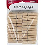 Home-X Wooden Clothespins. Set of 50.