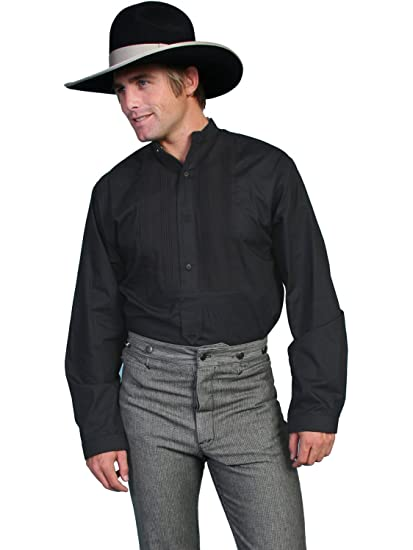 Victorian Men's Clothing, Fashion – 1840 to 1900 White Gambler Shirt  AT vintagedancer.com