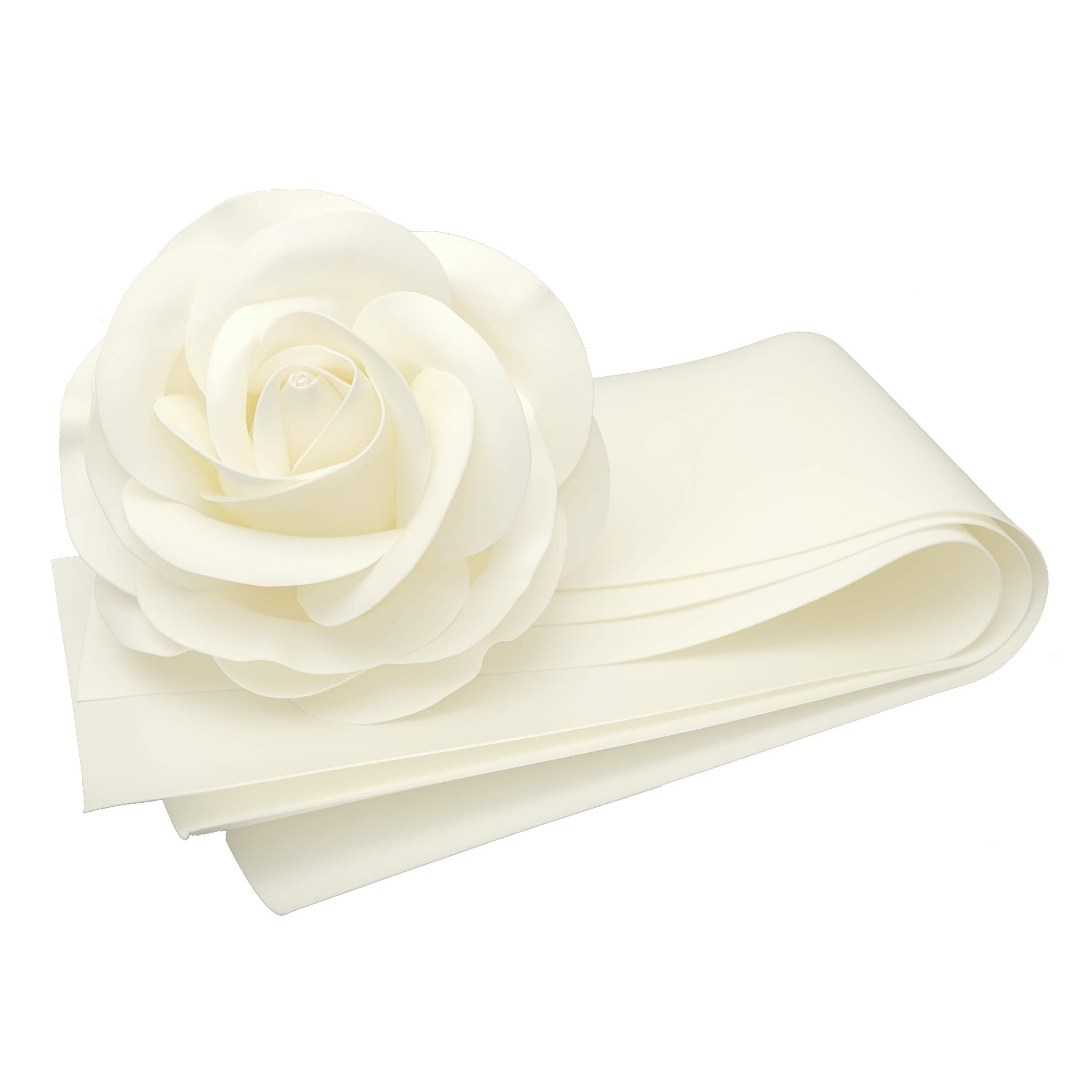 Craft Foam, 3 Strips 14'' x 39'' (36 cm x 100 cm), Thickness 0.078'' (2 mm) (White Cream)