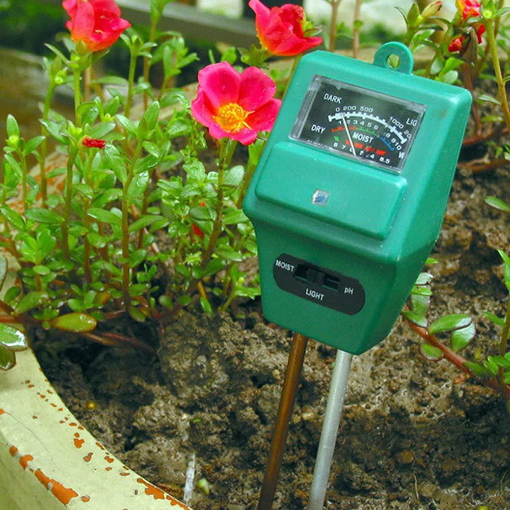 Garten 3-in-1 Pflanzen Tester PH Feuchtigkeit Lichtintensit/ät Meter Pflanzen Tester f/ür Rasen Bauernhof BovoYa Bodentester