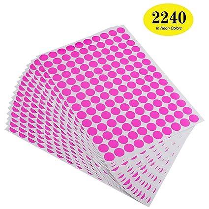 Amazon Com Onupgo Pack Of 2240 Round Color Coding Labels Circle