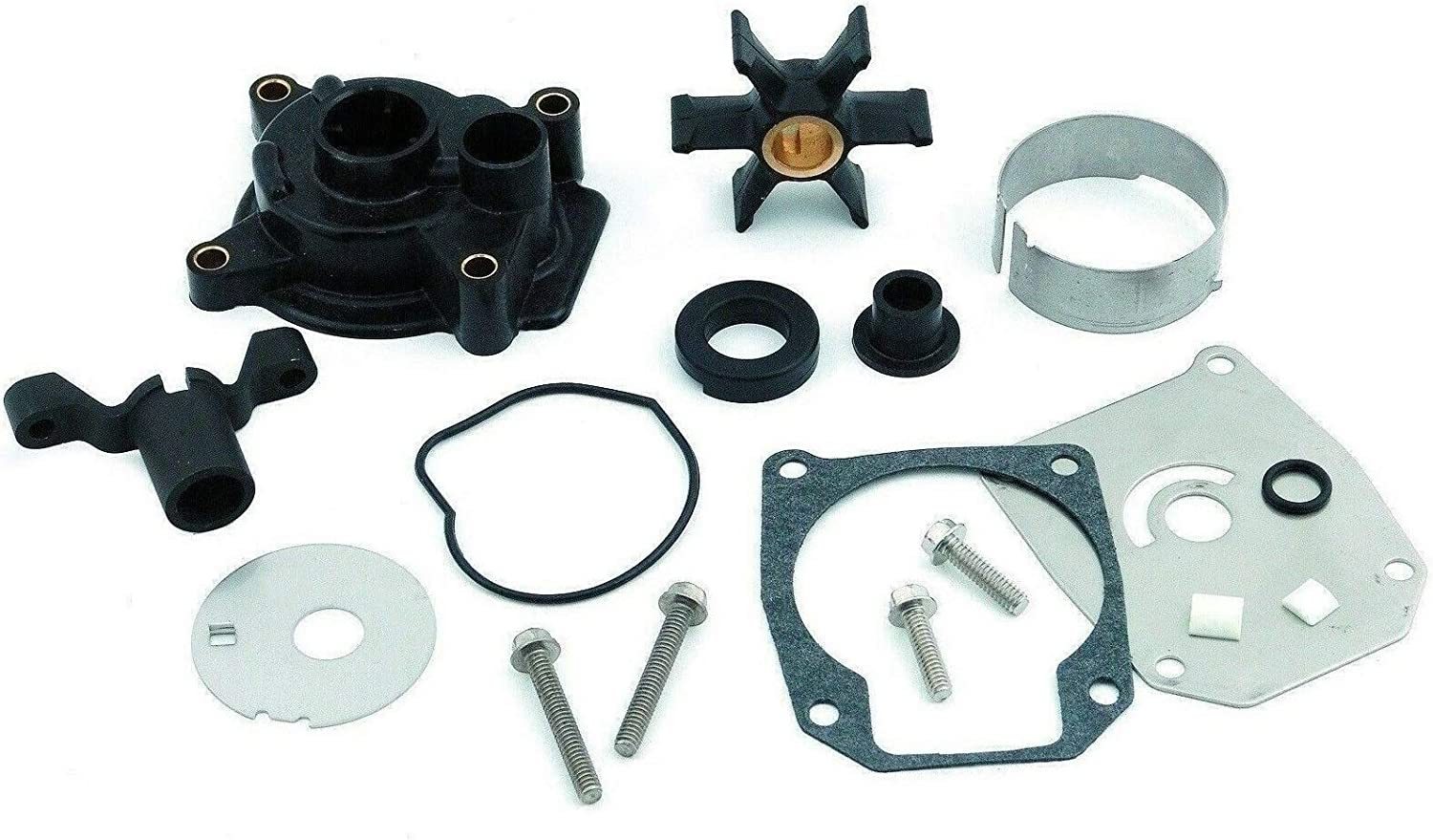 emp Water Pump Impeller Kit for Johnson Evinrude 40 50 55 60 HP 1984 1985 1986 1987 1988 Replaces 18-3399 439077 Please Read Product Description for Exact Application Information