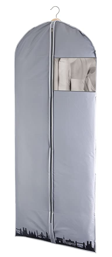 Wenko City - Bolsa Protectora para Ropa, de película de plástico, 60 x 150 cm, Color Gris