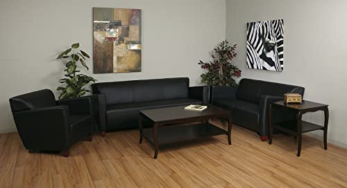 Office Star Modern Leather Sofa