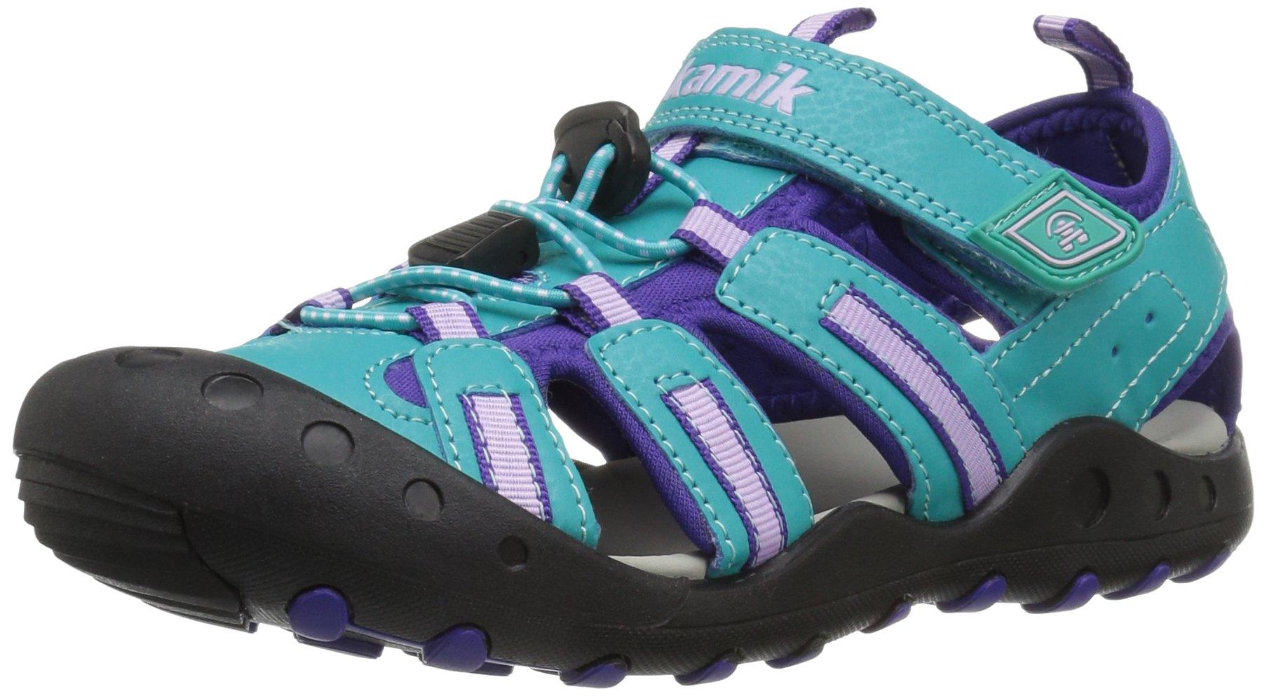 Kamik Girls' Crab Water Shoe, Teal, 12 M US Little Kid