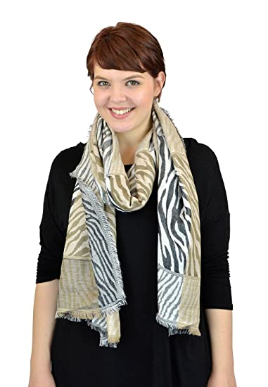3062fb842 Pashmina Women Scarf Soft Wrap Shawl Animal Print By Belle Donne - Black